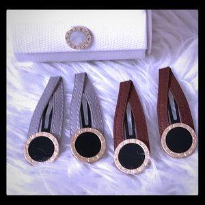 1 pair of Bulgari Hair Clips (pick color)